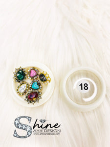 SHINE- Mix Alloy Charms with Crystals - Fancy Collection #18