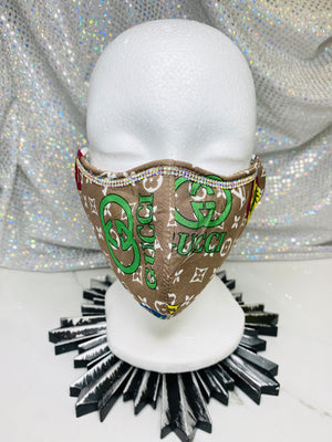 "SHINE- Limited Edition -Reusable Protection Face Mask- ""LV"""