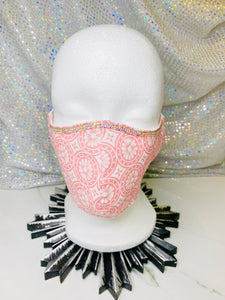 "SHINE- Special Designs-Reusable Protection Face Mask- ""Pink Designs"""