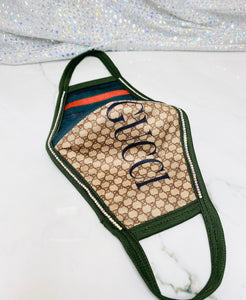 "SHINE- Limited Edition -Reusable Protection Face Mask- ""Gucci Logo"""