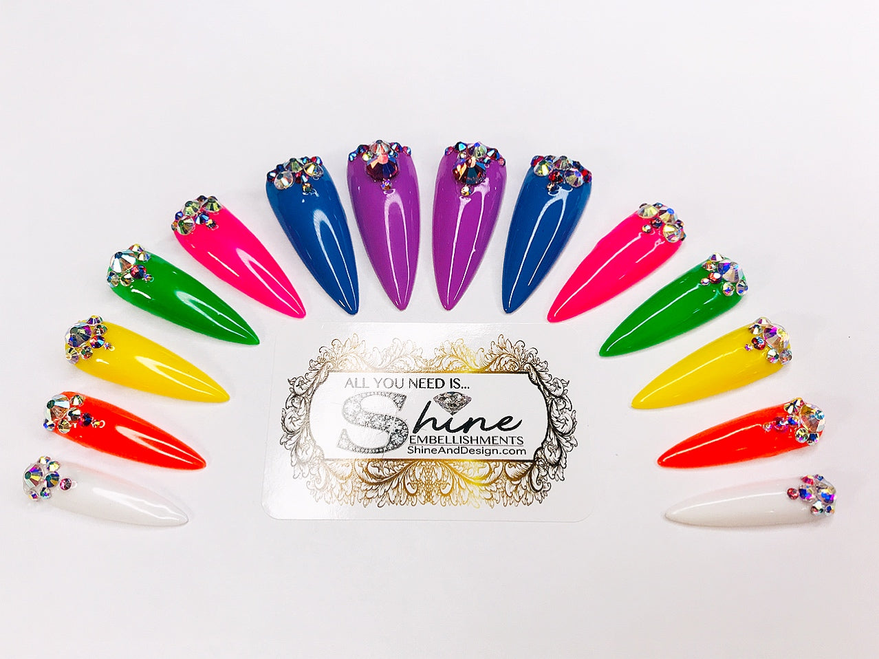 "SHINE & GO- ""Glamour Queen"" - #306- Press On Nails"