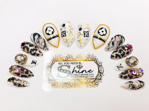 "SHINE & GO- ""Classy Lady"" - #102- Press On Nails"