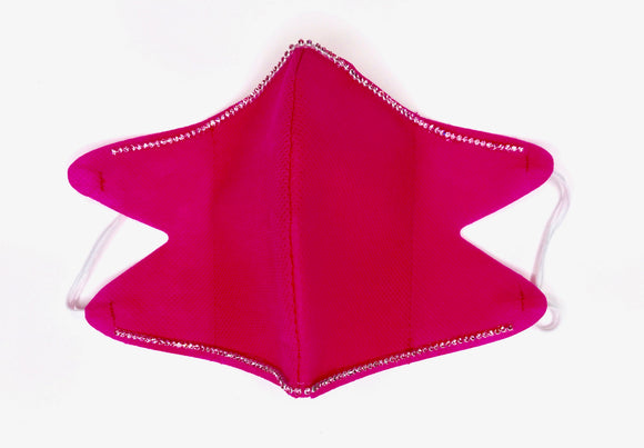 SHINE-- Double Pink 100% Crystals Edition -Reusable Face Mask Protection (Fuchsia Pink)
