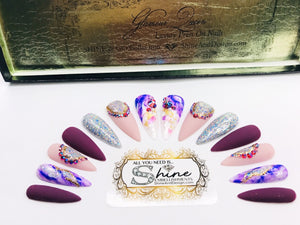 "SHINE & GO- ""Glamour Queen"" - #315-Press On Nails"