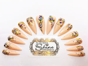 "SHINE & GO- ""Glamour Queen"" - #336- Press On Nails"