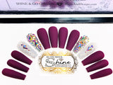 "SHINE & GO- ""Glamour Queen""- #317 CUSTOM DESIGN SET-Press On Nails"