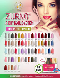 ZURNO-  4DIP- OMBRE' Collection- 60 color set (DIP ONLY)