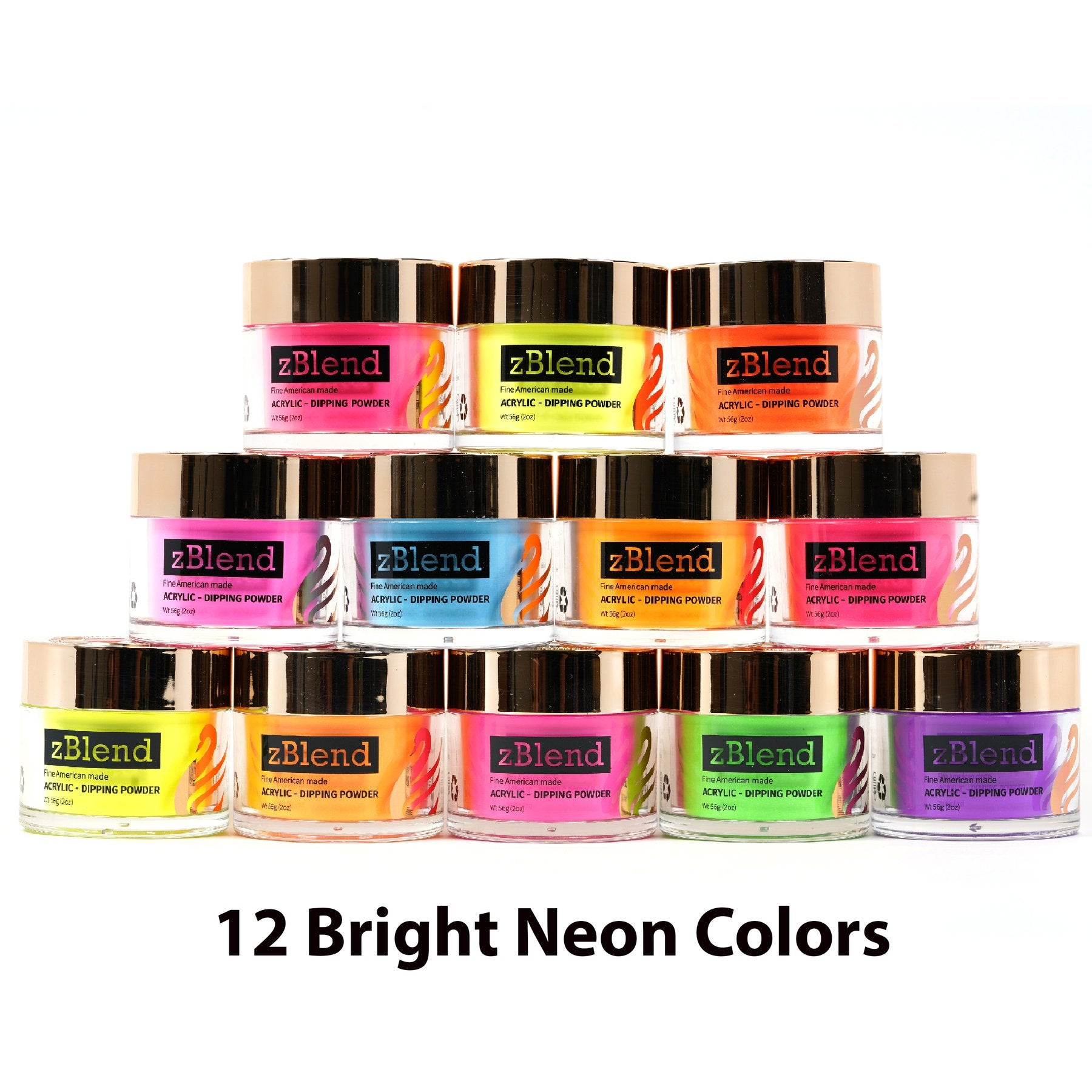 ZURNO- z-Blend ILLUMINATI Collection- 12 color set (Dip+Acrylic Powder 2 in 1)