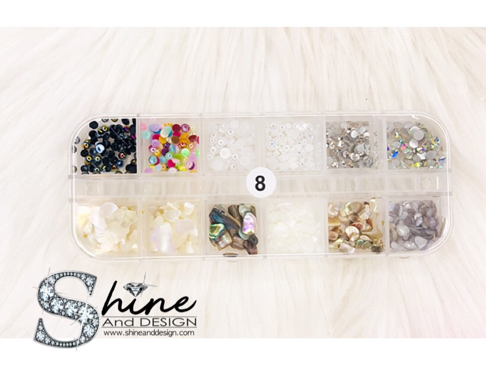 SHINE- Mix Alloy Charms with Crystals - Japanese Mermaid Collection - ( 10 Sets )
