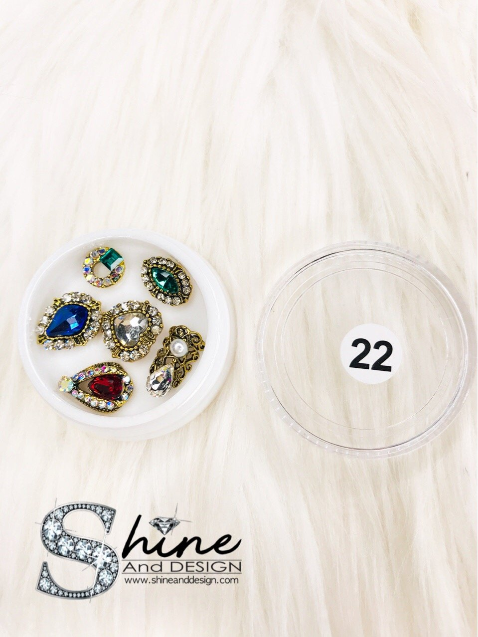SHINE- Mix Alloy Charms with Crystals - Fancy Collection #22