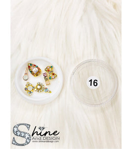SHINE- Mix Alloy Charms with Crystals - Fancy Collection #16