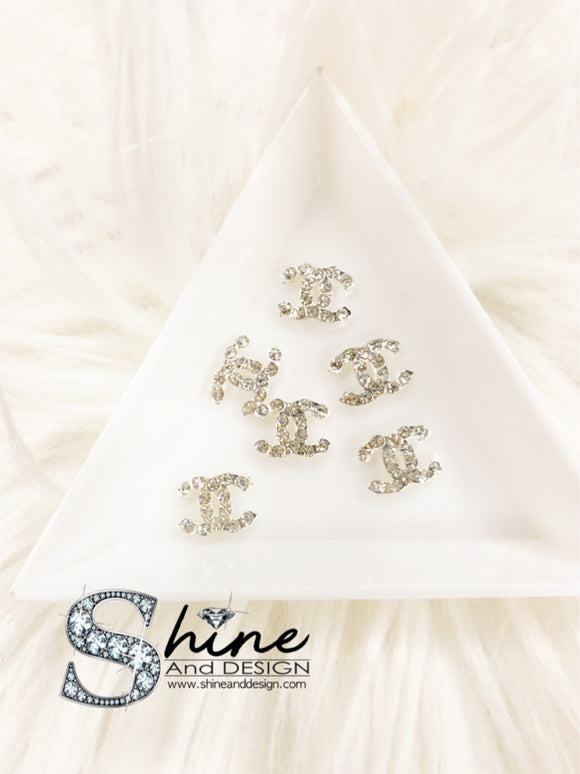 Shine Metal Alloy Charms with Crystals