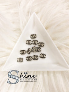 "Shine Metal Alloy Charms with Crystals -Runway Collection ""Vintage Coco Chanel Inspired"""