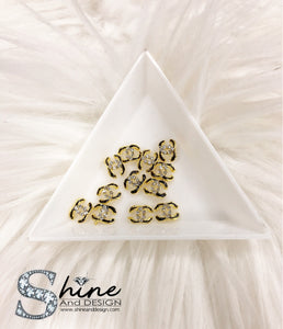 "Shine Metal Alloy Charms with Crystals -Runway Collection ""Coco Chanel Inspired"""