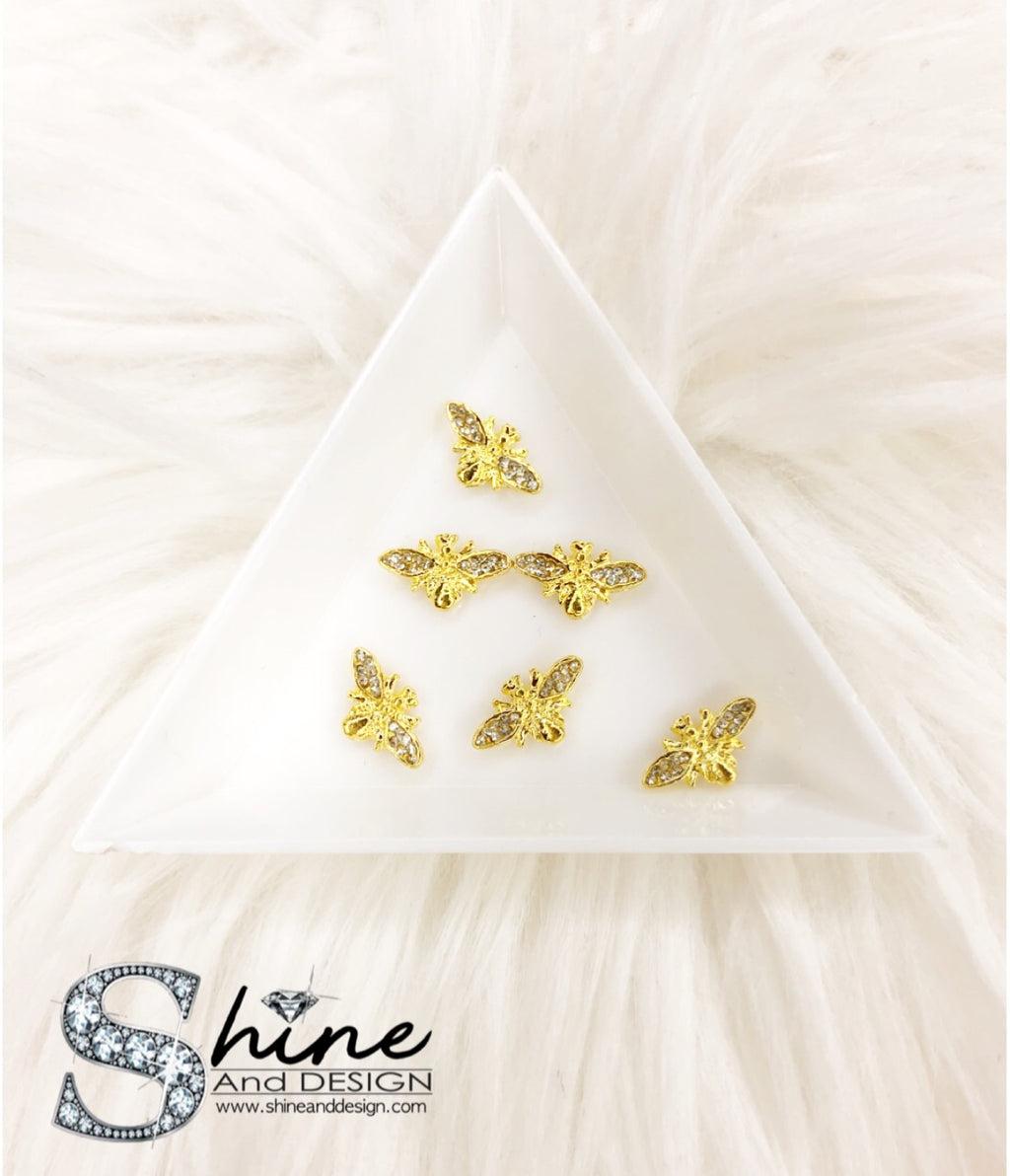 "Shine Metal Alloy Charms with Crystals -Runway Collection ""Diamond Gucci Bee Inspired"""