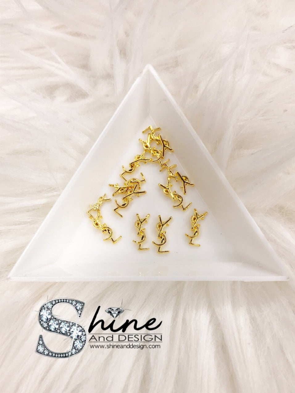 "SHINE Metal Alloy Charms- ""Gold- Yves Saint L Inspired"""