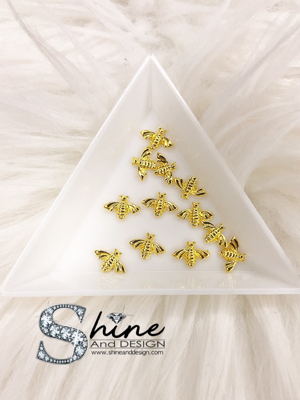 "SHINE Metal Alloy Charms with Crystals -Runway Collection ""Gold-Gucci Bee Inspired"""