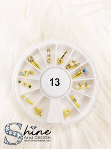 SHINE Mix Charms with Crystals - Fancy Collection Set #13