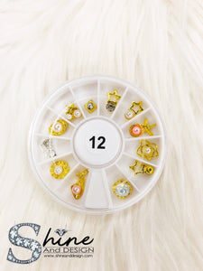 SHINE Mix Charms with Crystals - Fancy Collection Set #12