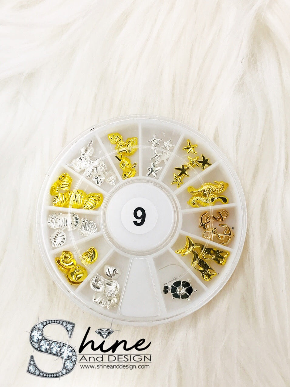 SHINE Mix Metal Charms with Crystals - Fancy Collection ( 13 Sets )