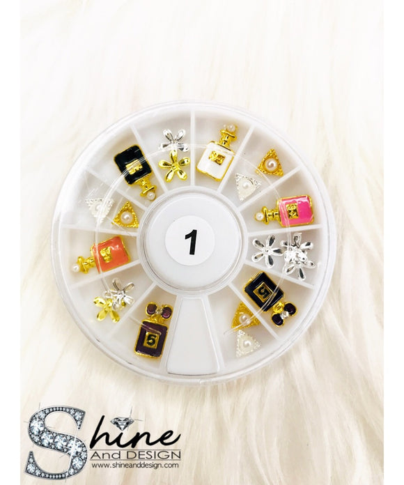SHINE Mix Alloy Charms with Crystals - Fancy Collection ( 13 Sets )