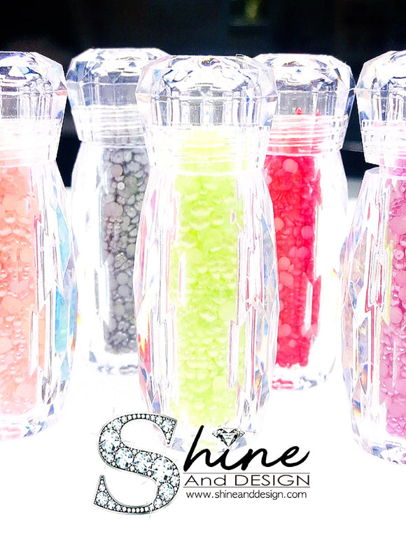SHINE- MINI Flat Pearls Collection ( 9 Available Color)