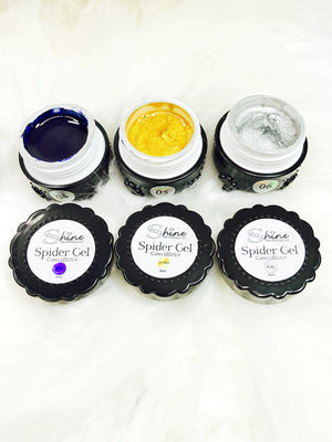 SHINE- Spider Gel- Elastic Rubber Gel- Nail Art Gel- SETS