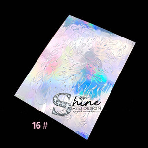 "SHINE-""STICK iT""- Holographic Foil Stickers- HOT FLAMES"