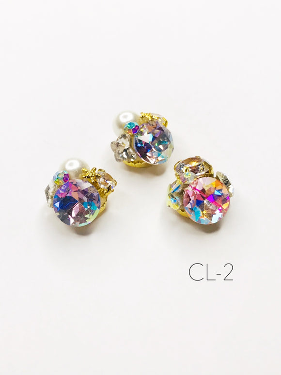 SHINE- Zircon Custer Mermaid Charm, #CL-2