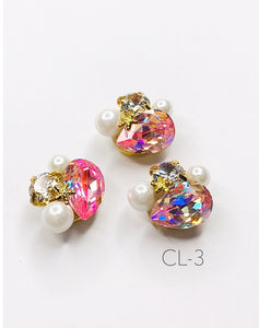 SHINE- Zircon Custer Mermaid Charm, #CL-3
