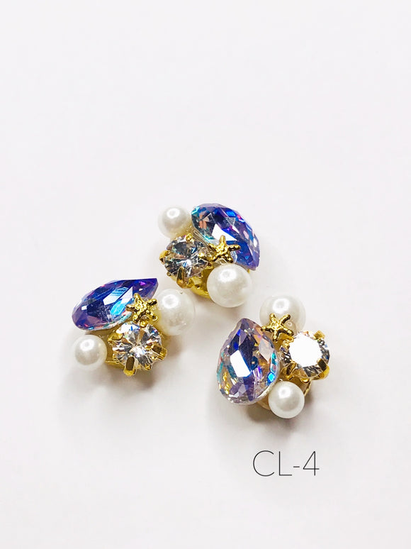 SHINE- Zircon Custer Mermaid Charm, #CL-4