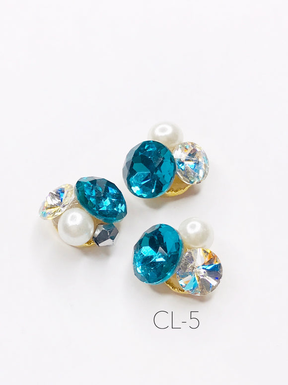 SHINE- Zircon Custer Mermaid Charm, #CL-5