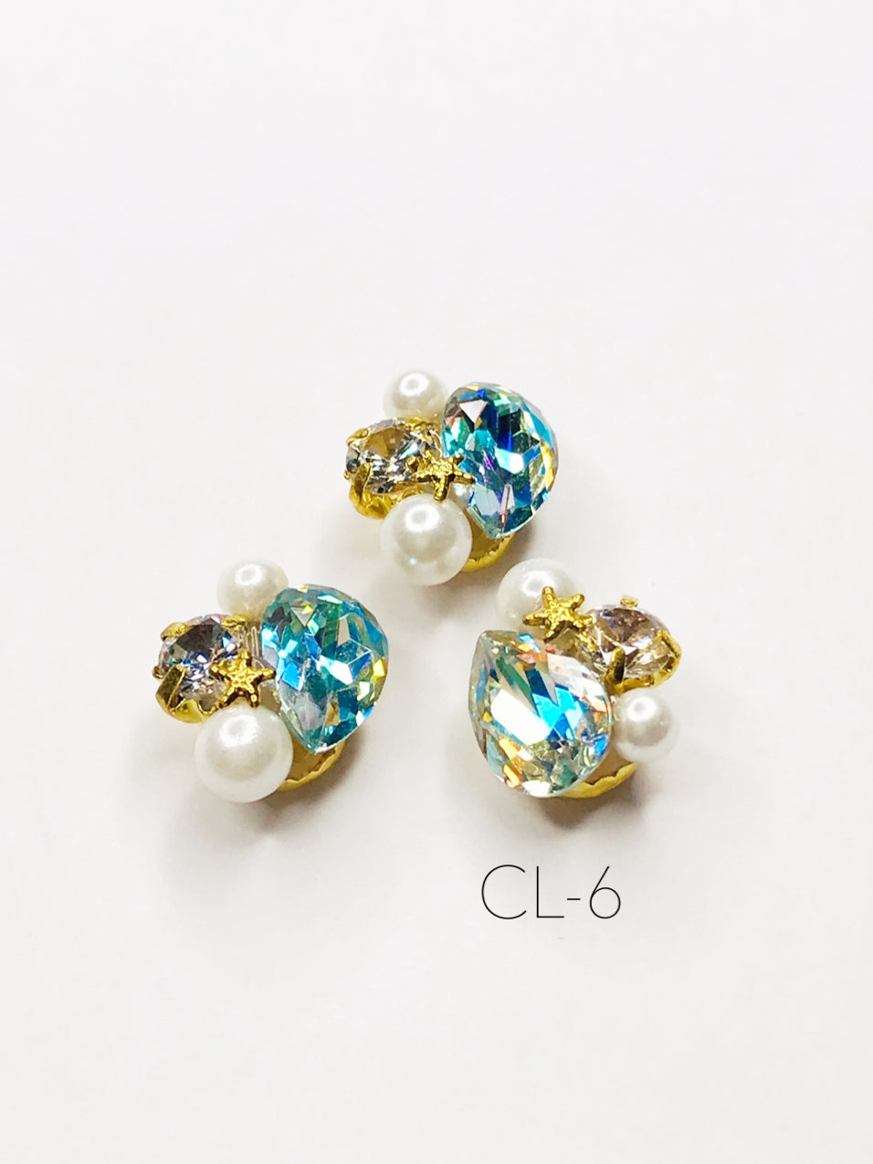 SHINE- Zircon Cluster Mermaid Charm, #CL-6