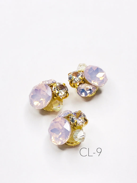 SHINE- Zircon Custer Mermaid Charm, #CL-9