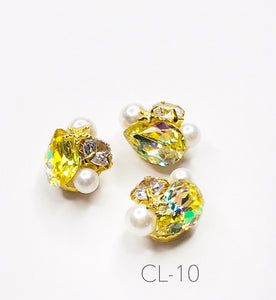 SHINE- Zircon Custer Mermaid Charm, #CL-10