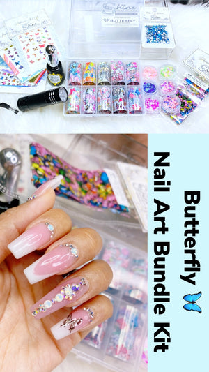 SHINE- Butterfly Nail Art Kit- Bundle Deal