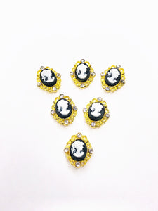 "SHINE Metal Alloy Charms -""Frame Princess"" Gold"