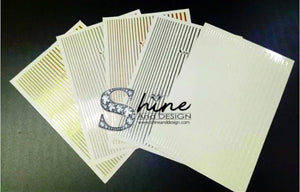 "SHINE- ""STICK iT""-Vinyl Self Adhesive Stickers- Super Sticky, Easy Peel & Stick Over Gel or Polish"