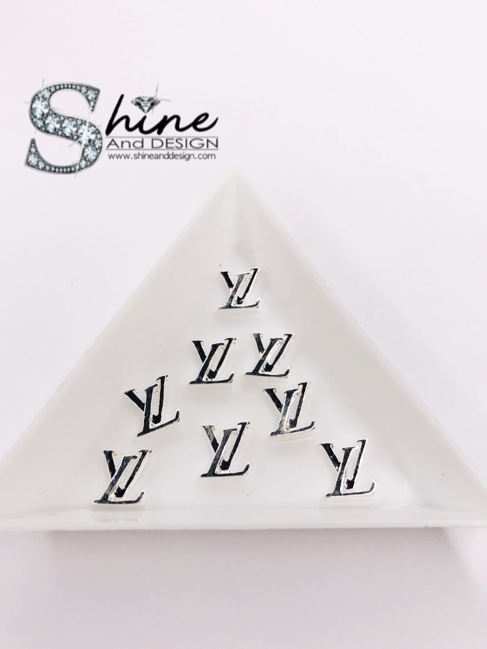 "Shine Metal Alloy Charms- ""Silver- Louis Vuitton Inspired"""