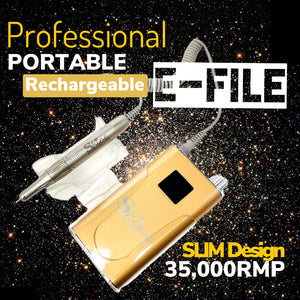 SHINE- Professional E-File -Cordless- Rechargeable- 35,000RPM