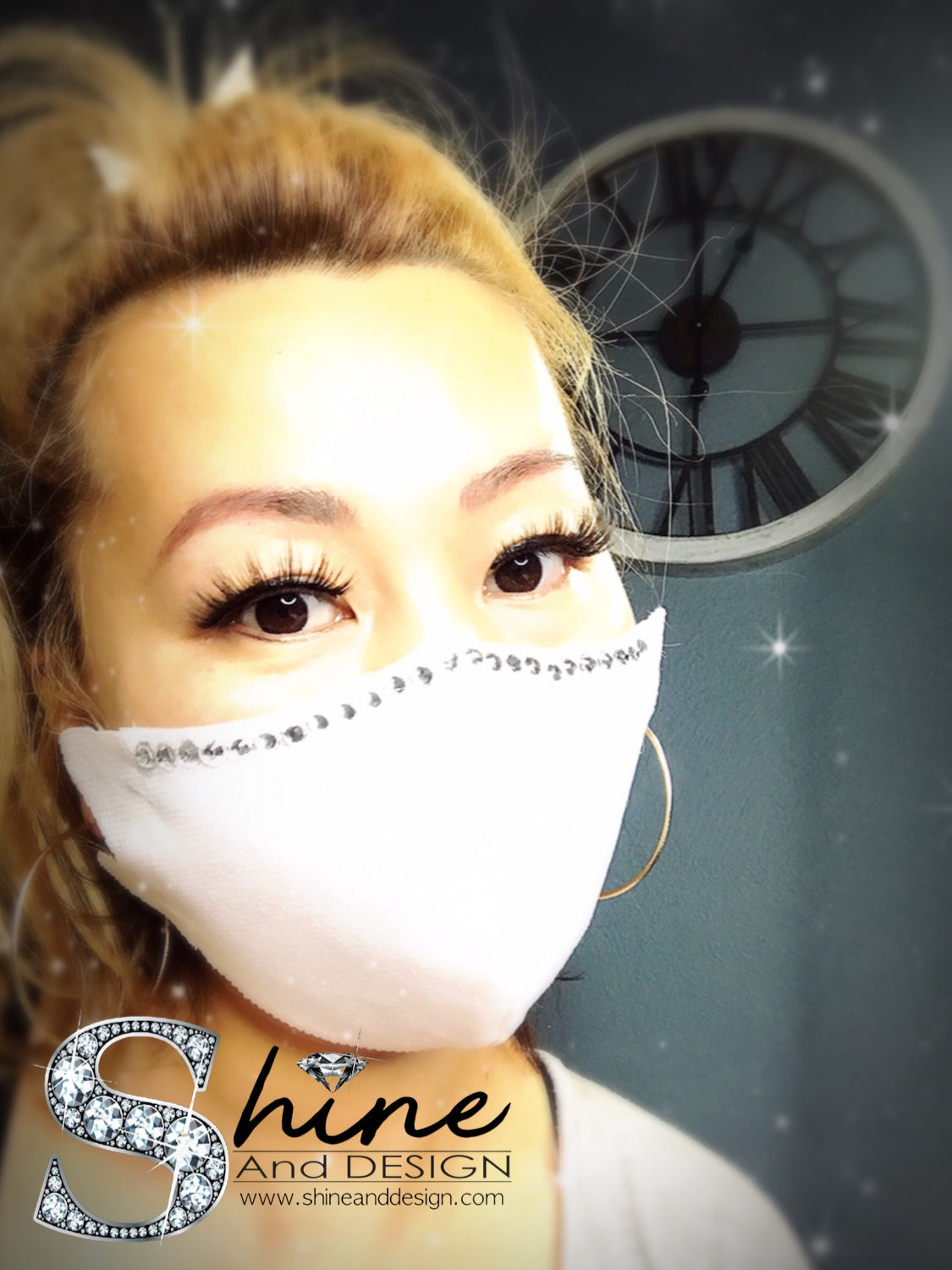 SHINE- Single 100% Crystal Edition -Reusable Face Mask Protection- 6 Colors Available