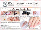 SHINE- Reusable Reverse Dual Form Nail Kit #110- Tips- 100pcs- Box Set +2 Nail Clips