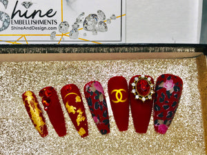 "SHINE & GO- ""Glamour Queen"" - #313-Press On Nails"