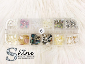 SHINE #06- Mix Alloy Charms with Crystals - Japanese Mermaid Collection