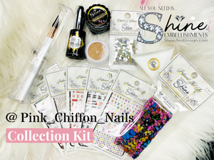 PINK Chiffon Nails- Signature Art Kit~ Limited Edition 02