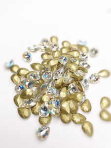SHINE- Crystal AB- 3D Rhinestones- 7*10mm- DROP/ #41-AB
