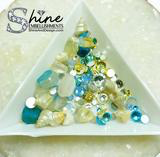 """By The Sea"" Crystals & Shell Decorations-#S1"