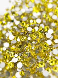 SHINE- Lemons Yellow- Mix Foil Back Crystal Rhinestones #145