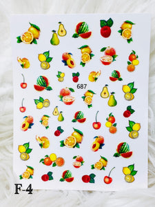 "SHINE- ""STICK iT""-Vinyl Self Adhesive Decal #F-3/ FRUITY TOOTIE COLLECTION"