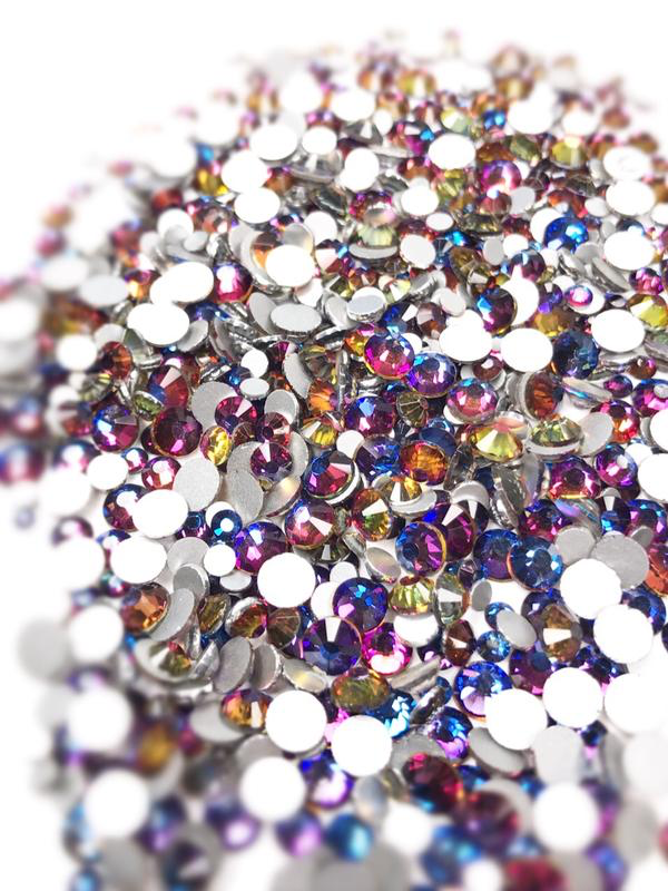 SHINE- Blue Flame- Mix Foil Back Crystal Rhinestones #148